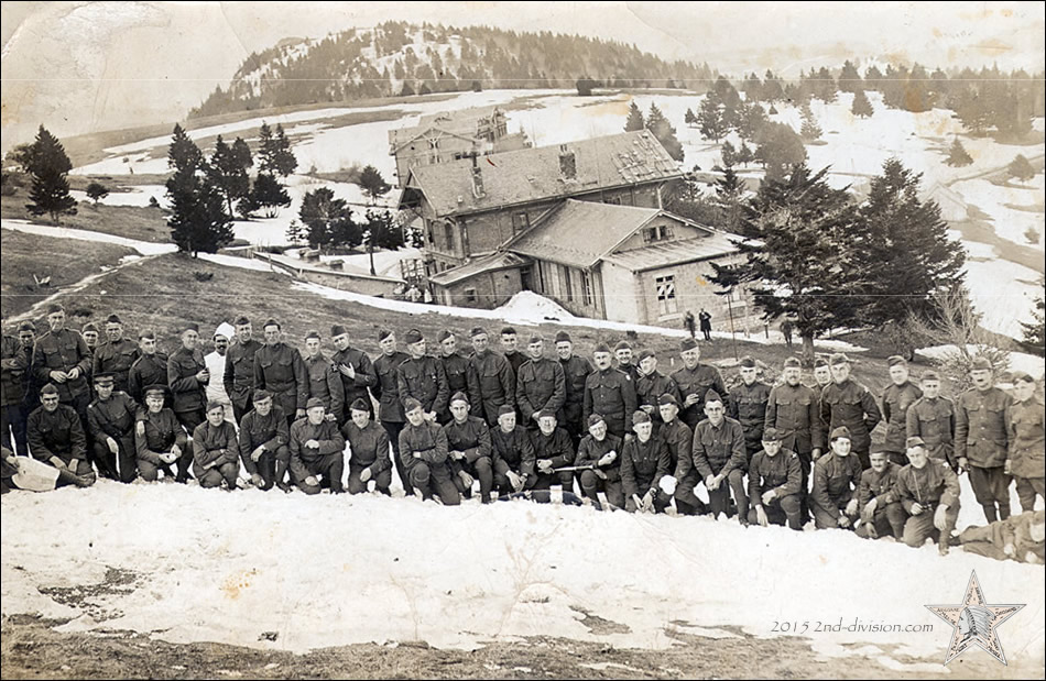 A few 2nd Division men possibly photographed in Germany during the winter of 1918-1919.