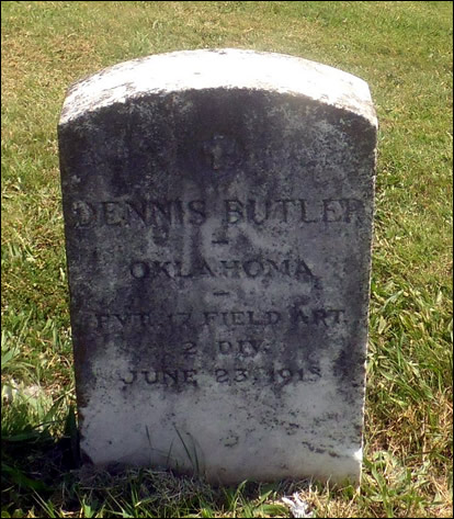 Grave of Dennis Butler, 17th Field Artillery