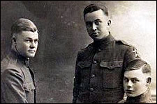 Three unknown men of the 17th Field Artillery.