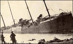 December 6, 1917, Imo collided with Mont Blanc