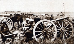 15th F. A. in action near Vauxcastille July 19, 1918.