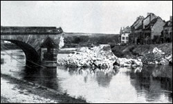 Main Bridge at Chateau-Thierry, Blown Up by French to Prevent Germans from Crossing