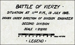Battle of Vierzy - 2nd Division map done by 2nd Engineers
