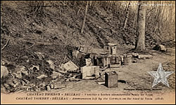 CHATEAU-THIERRY - BELLEAU - Ammunition left by the German on the road to Veau [sic] (1918)