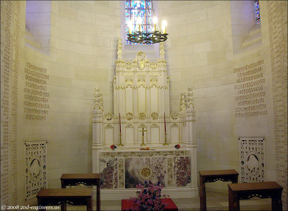 Inside the Chapel at Belleau Wood and Aisne Marne Cemetery
