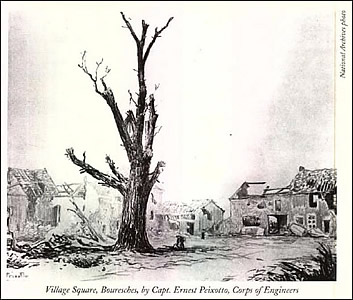 Village Square, Bouresches, by Capt. Ernest Peixotto, Corps of Engineers