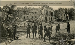 American workers remaking a road at Chateau Thierry.