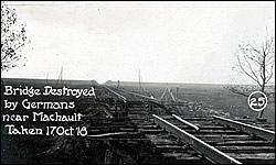 Bridge Destroyed by Germans near Machault