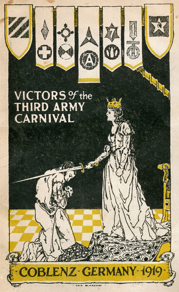 Cover of 3rd Army Carnival Victors magazine