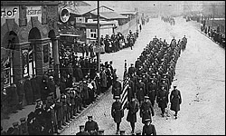3rd Army men marching in Coblenz ca. 1921.