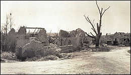 The destroyed town of Boureshes, France, on the edge of Belleau Woods.