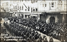 American troops passing through Luxembourg 1918