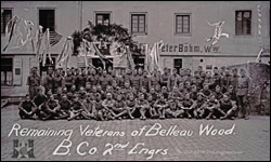 Remaining Veterans of Belleau Wood. B. Co. 2nd Engrs.
